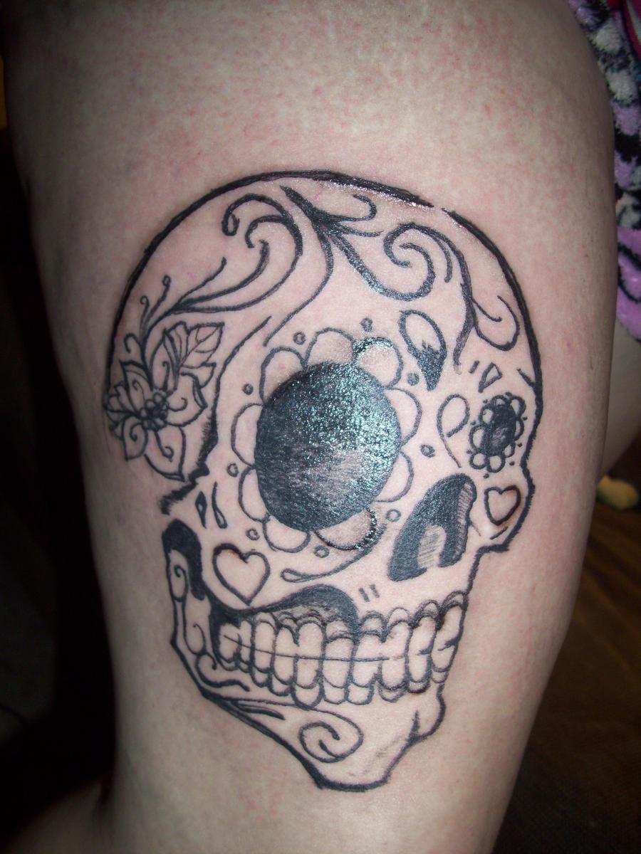 sugar skull tattoo by ryliecat on DeviantArt
