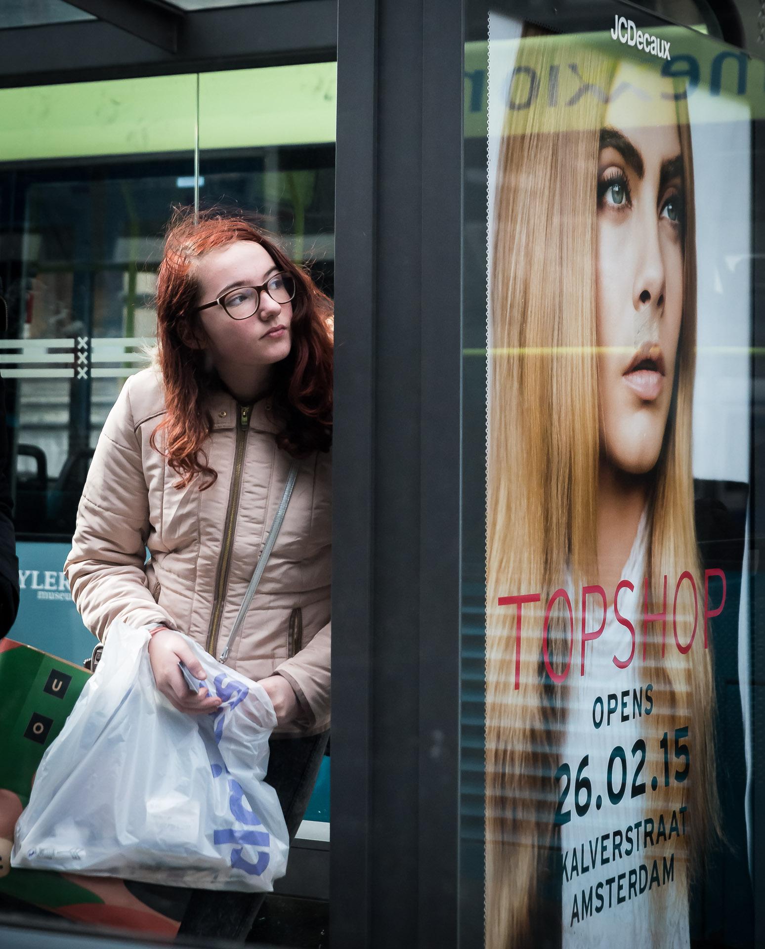 Tram Stop Girl by niklin1