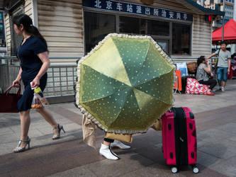 The Golden Umbrella by niklin1