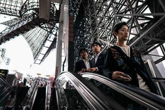 Escalator, Kyoto Station
