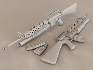 M16A1 with underbarrel M203