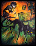 Black Cat Crossed Her Path by IceandSnow