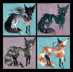 Fox designs 4 SALE- $12 by IceandSnow