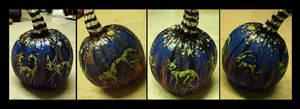 Glowing Zombie Pets Pumpkin by IceandSnow