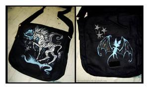 Zebra Bag by IceandSnow