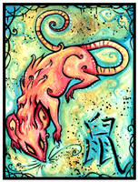 Chinese Zodiac: RAT by IceandSnow
