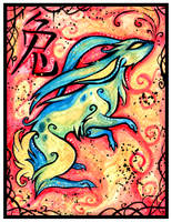 Chinese Zodiac: RABBIT by IceandSnow