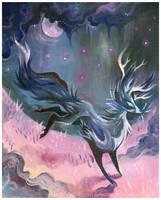 Foxalope Dreams by IceandSnow