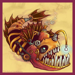 Steampunk Anglerfish by IceandSnow