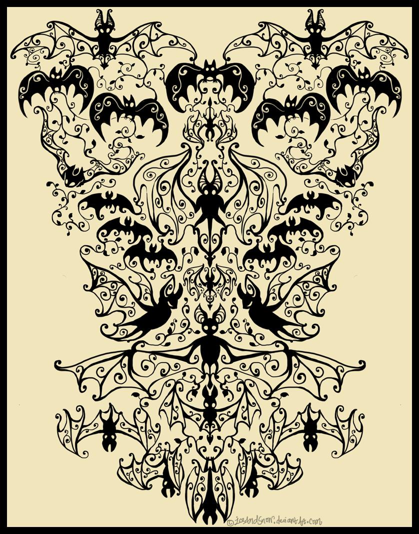 Shirt design wallpaper -  Victorian Bats T Shirt Design By Iceandsnow