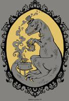 Tea Rex: t-shirt design