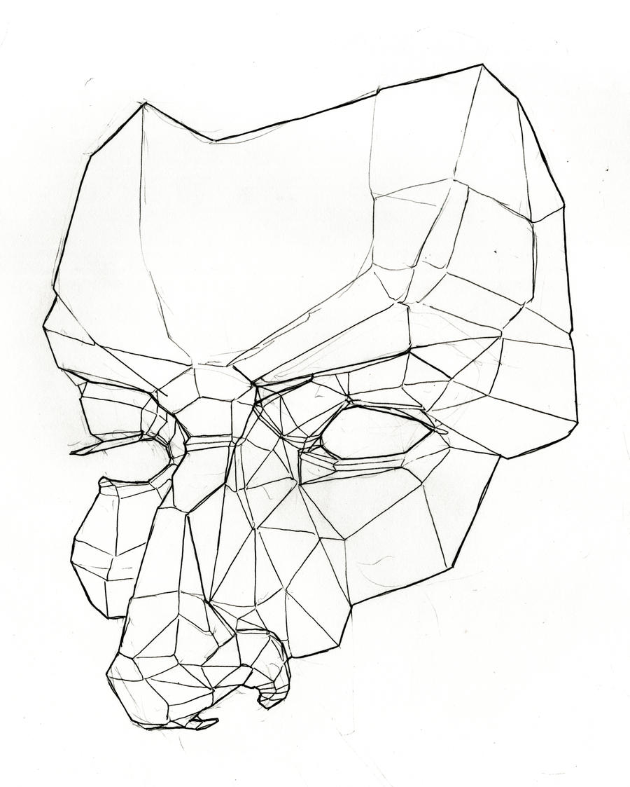 Line Drawings Of The Face : Planes of the face masquerade by ziinyu on deviantart