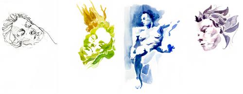 Figure / Life (Painting) [02] Theresa by ziinyu