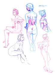 Figure / Life (Drawing) [05] Jenna by ziinyu