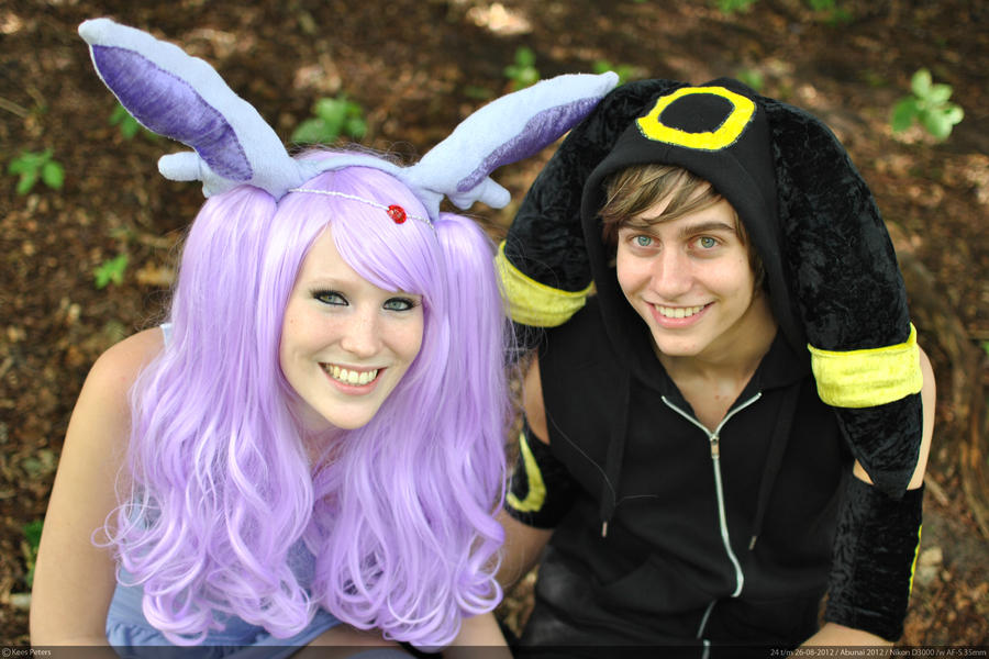 Umbreon and Espeon cosplay by DeniozzzUmbreon And Espeon Cosplay