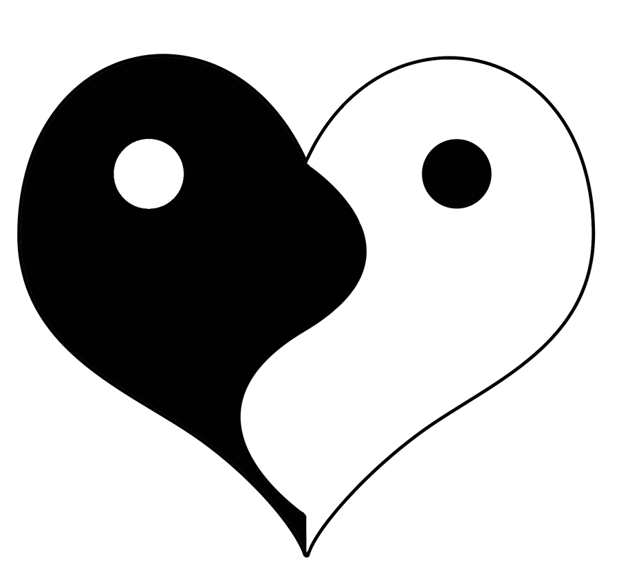 Ying Yang Heart Symbol By Balrond On Deviantart