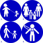 Child leash signs by LordDanieltheGrey
