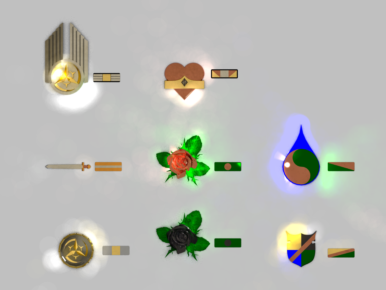 Medals of the Levan Empire (WIP) by LordDanieltheGrey