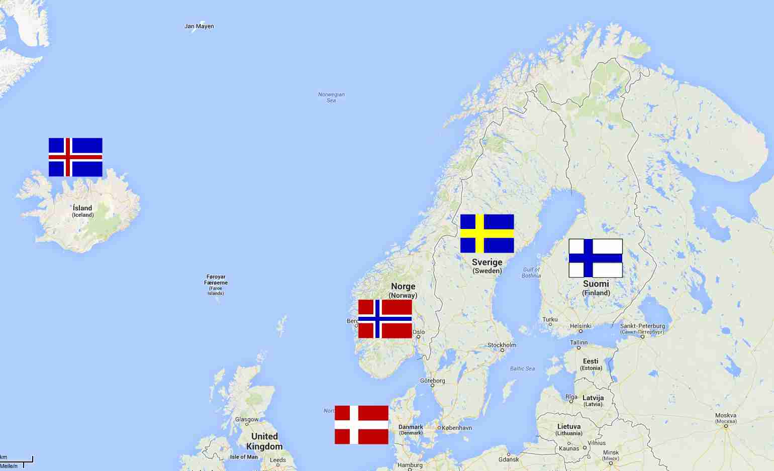 Nordic Countries by LordDanieltheGrey