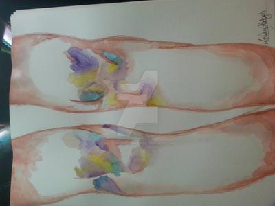 Bruised Knees. by AllosaurusAshley