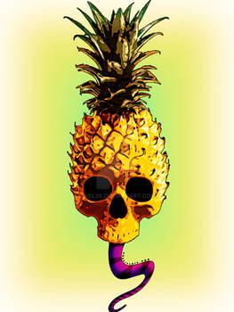 Grunge Pineapple Skull