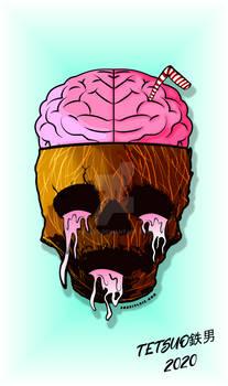 Grunge Coconut Skull