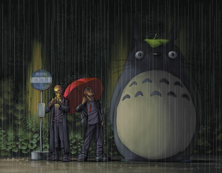 Tonari no Totoro by bboykrillin