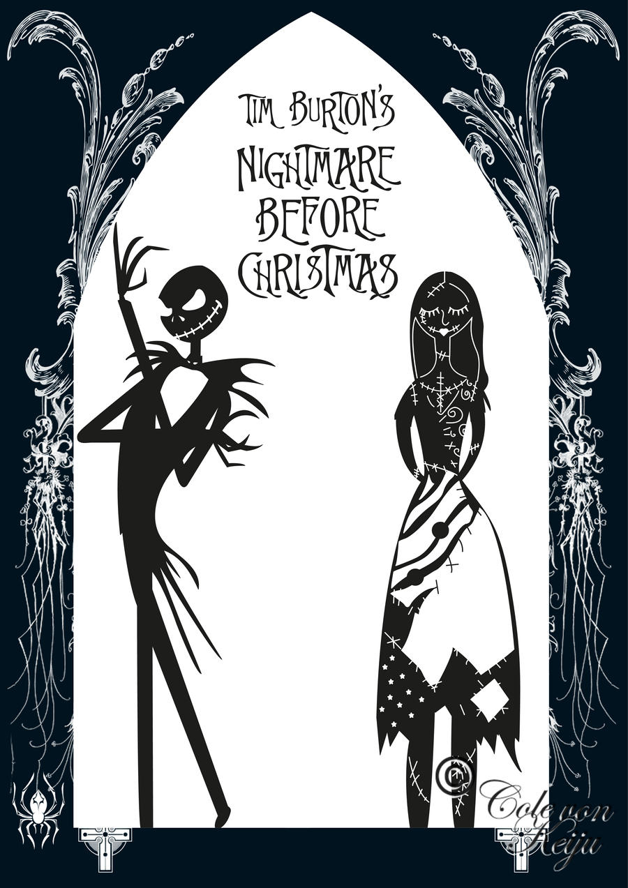 Nightmare before christmas by colevonkeiju on deviantart for Nightmare before christmas coloring pages