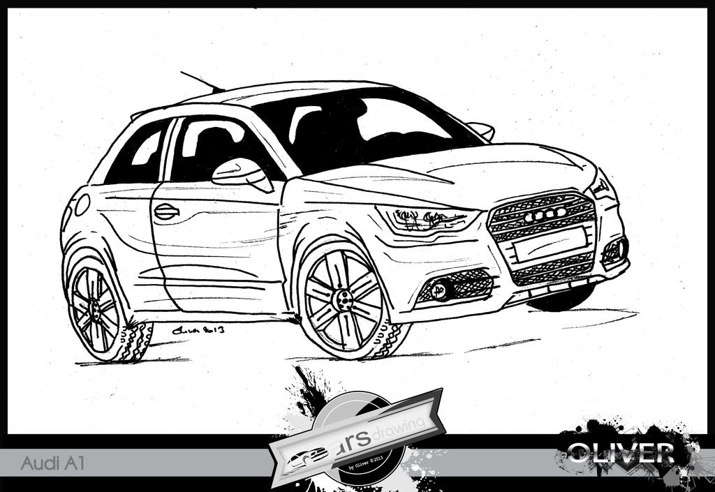 CARS DRAWING Audi A By THEartsoliver On DeviantArt - Audi car drawing