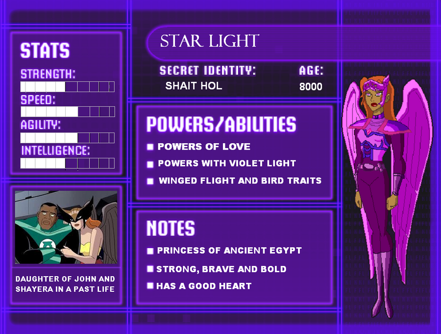 Dc Profile Star Light By Kayla Hiwatari On Deviantart