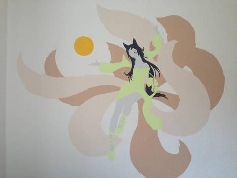 Ahri wall painting