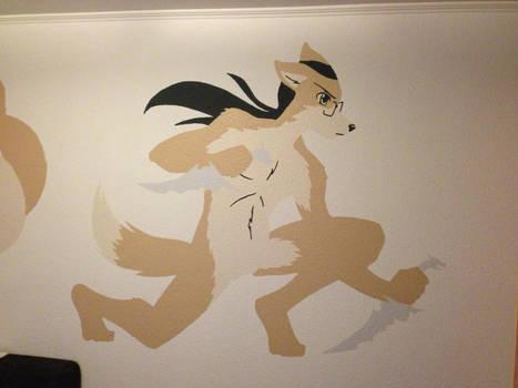 Blackbird wall painting