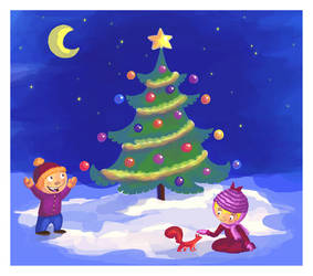 A Christmas card by Lilostitchfan