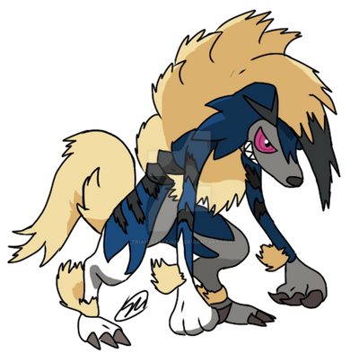 Shiny Lycannine Midnight Form by TriangleSeagull
