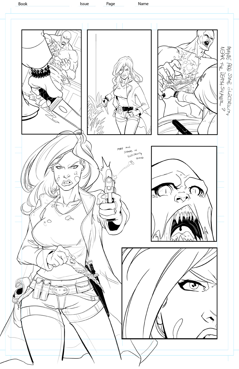 Storm Born Issue 1 pg 5 by davehamann