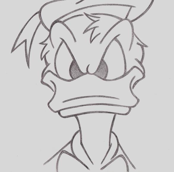 donald duck sketch by heteroclite360