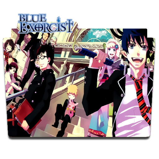 File Anime Ao No Exorcist Folder Icon By Arielm23 On Deviantart