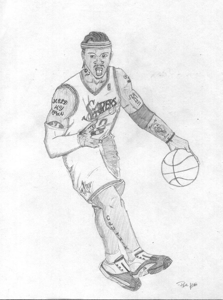 coloring pages of allen iverson-#4