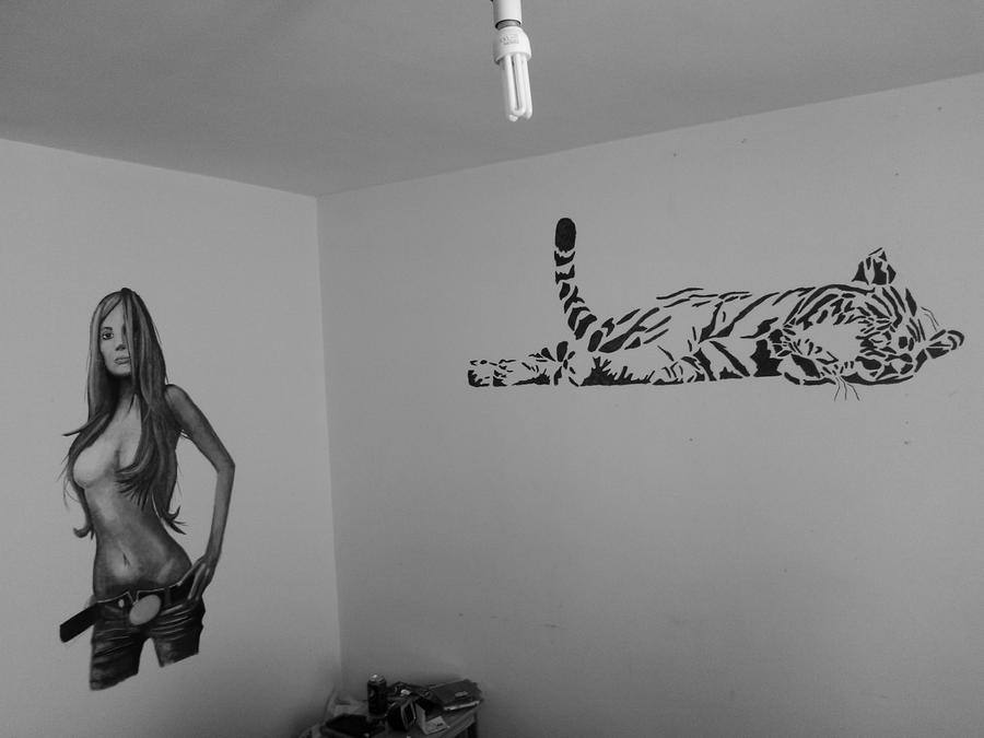 cool wall art drawings the image kid