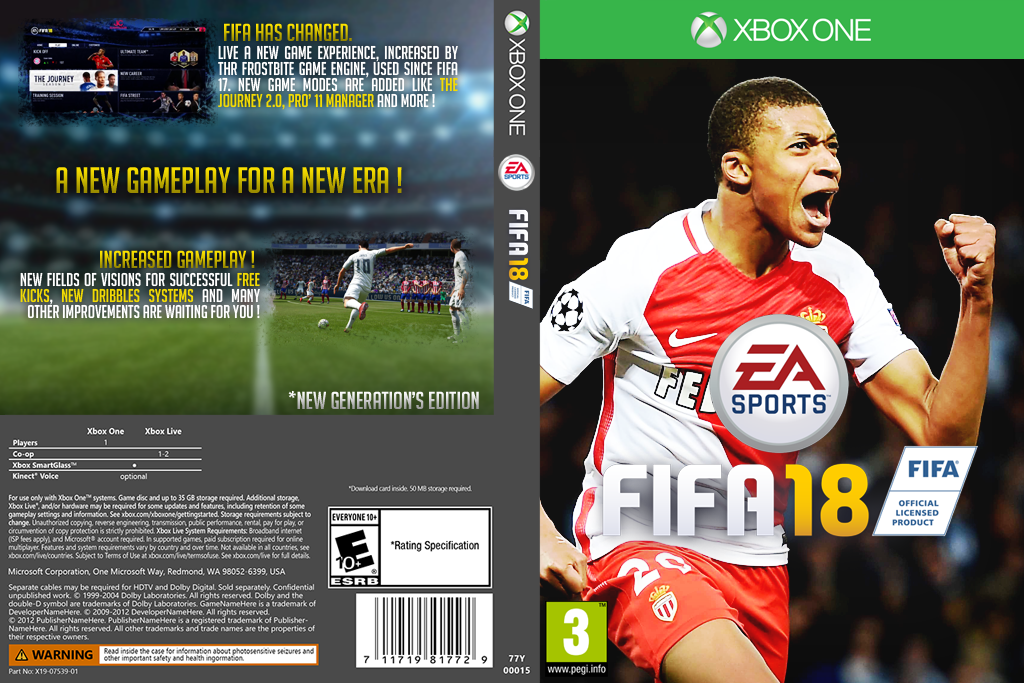 xbox one fifa 18 custom game cover texx by texxgfx on deviantart. Black Bedroom Furniture Sets. Home Design Ideas