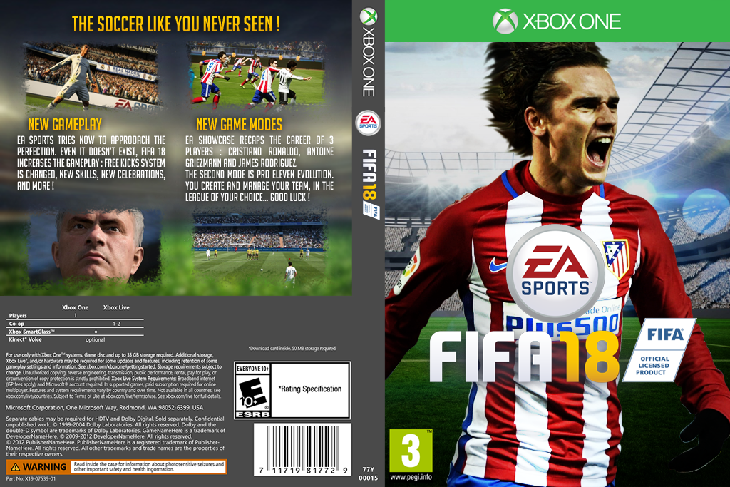 xbox one fifa 18 custom game cover texx ag7 by texxgfx on deviantart. Black Bedroom Furniture Sets. Home Design Ideas