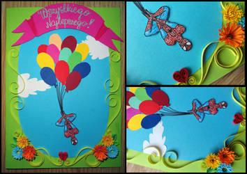 Spider senses failed - Birthday card. by Witjanna