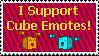 I support cube emotes stamp