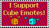 I support cube emotes stamp by ninjapengui