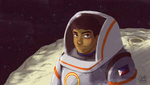 a Filipino astronaut by jmamante02