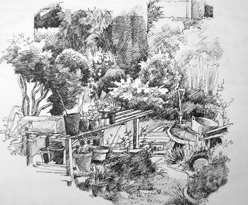Garden Sketch 6 by Lhox on DeviantArt