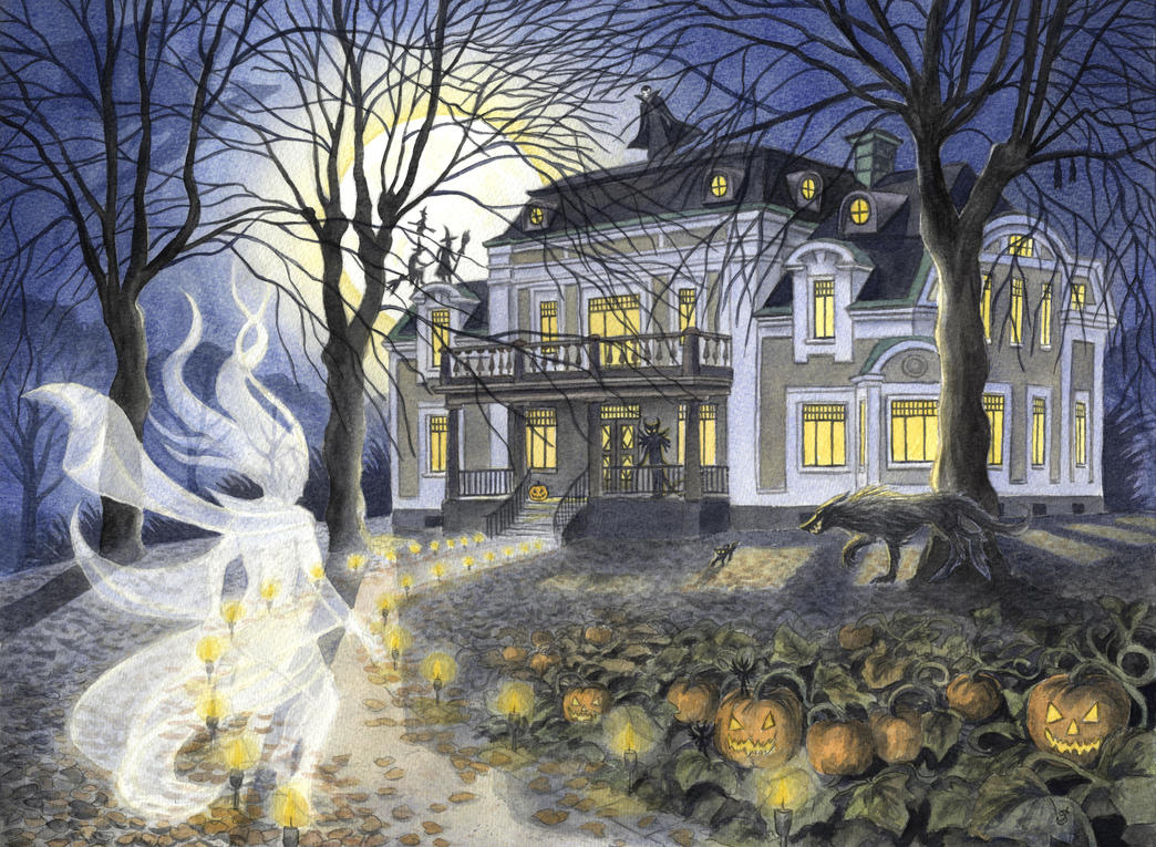 A Haunted Party by Lhox