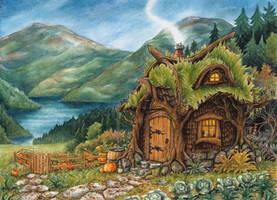 Hagrids Hut by Lhox