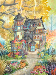 Whimsical House by Trollabunden