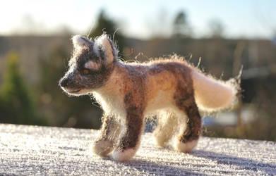 Felted Arctic Fox